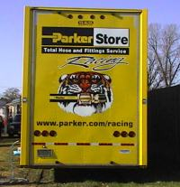 Rear view of Jimmy Mars' 2000 ParkerStore Hauler